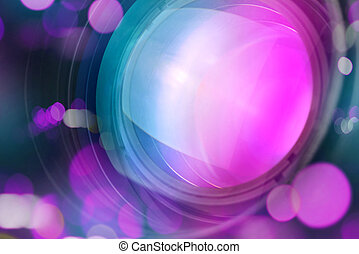 Photographic camera lens with bokeh light