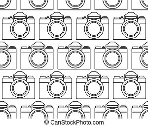 Photographic camera pattern - Seamless pattern of the...