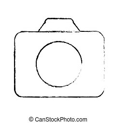 photographic camera thumbnail icon image vector illustration...