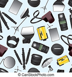 Photographic equipment seamless pattern