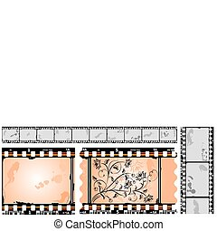 Photographic film, filmstrip, vector