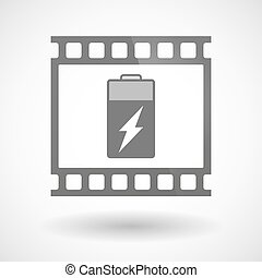 Photographic film icon with a battery