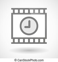 Photographic film icon with a clock