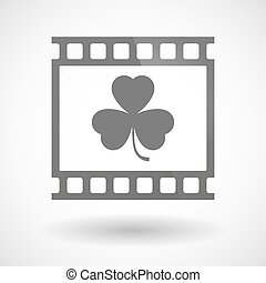 Photographic film icon with a clover