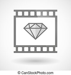Photographic film icon with a diamond