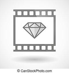 Photographic film icon with a diamond