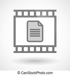 Photographic film icon with a document