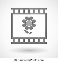 Photographic film icon with a flower