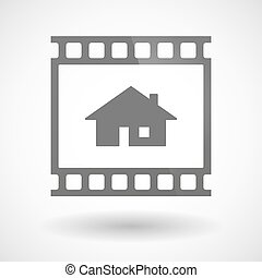 Photographic film icon with a house