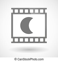 Photographic film icon with a moon