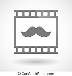Photographic film icon with a moustache