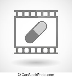 Photographic film icon with a pill