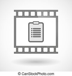 Photographic film icon with a report