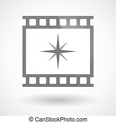 Photographic film icon with a sparkle