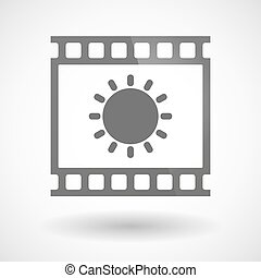 Photographic film icon with a sun