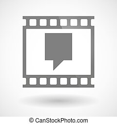 Photographic film icon with a tooltip