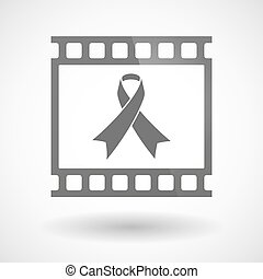 Photographic film icon with an awareness ribbon