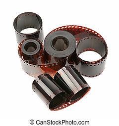 photographic film isolated on white background