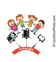 photographic hobby design, vector illustration eps10 graphic