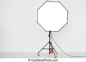 Photographic lighting in an empty studio