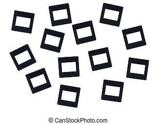 Photographic Slides - Photographic slides isolated against a...