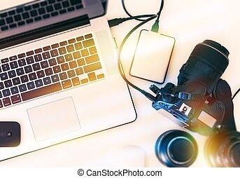 photographie, arbeitsstation