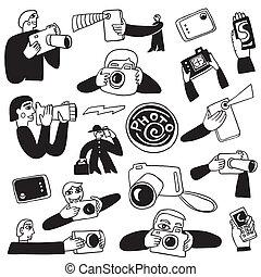 photographie, doodles