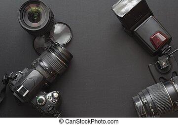 photographie, mit, fotoapperat