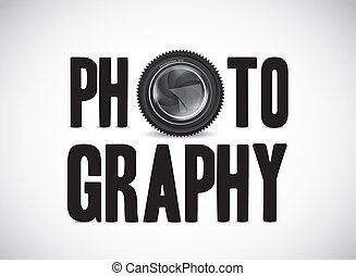 photographie, mit, kamera linse