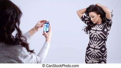 photographie, mode, poser, modèle