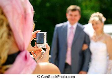 photographie, nouveaux mariés