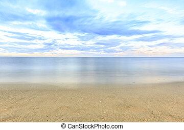 photographie, plage, longue exposition