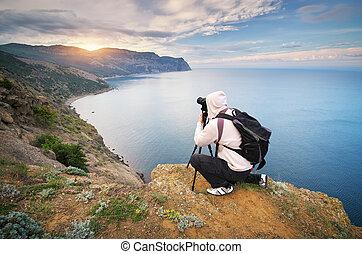 photographie, travail, mountain.