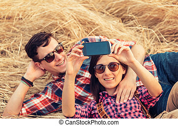 photographies, couple, amour, prend
