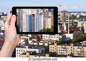 photographies, image, ville, pc tablette