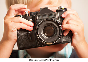 Photographing boy - Boy with camera
