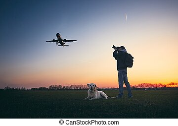 Photographing near airport