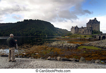 Photographing scenic Castle