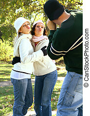 Photographing Two Young Girls