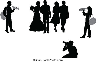 photographing wedding ceremony