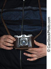 Photographing with a vintage camera - Taking pictures with a...