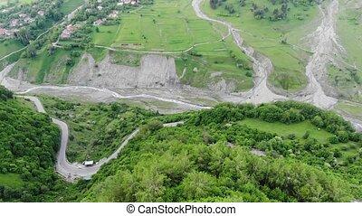 photography., aérien, montagnes, collines, height., allée, ...