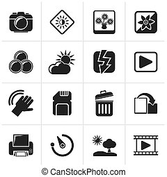 Photography and Camera icons - Black Photography and Camera...
