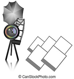 Photography background with objective