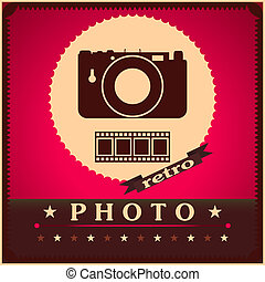 Photography camera and film retro poster - Photography ...