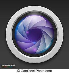 Photography camera icon background. Vector illustration art