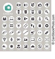 Photography camera icons EPS10