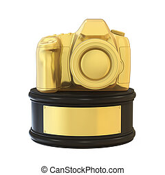Photography Camera Trophy Award Isolated