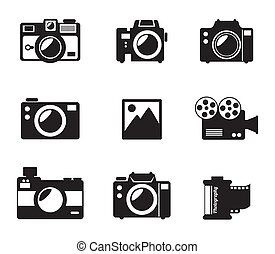 photography design - photography design over white...