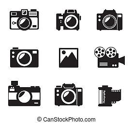 photography design over white background vector illustration